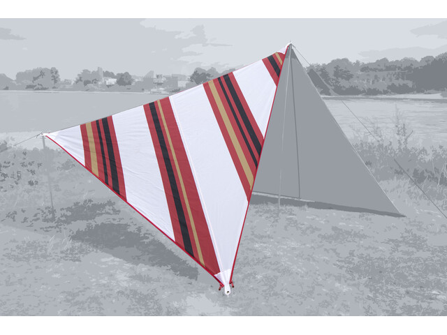 Bent Canvas Voile solaire Oriental, stripe white/zipper red